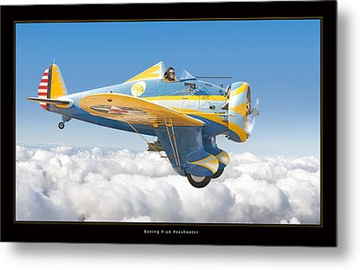 Boeing P-26 Peashooter Metal Print by Larry McManus