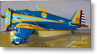 Boeing Peashooter P-26a  -  01 Metal Print by Gregory Dyer