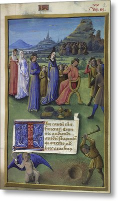 Boethius And Philosophy Metal Print by British Library