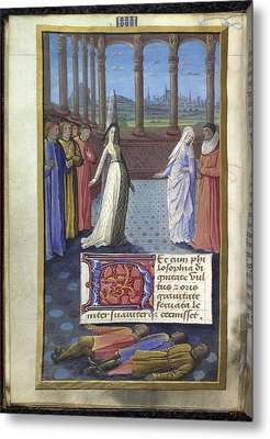 Boethius The Consolation Of Philisophy Metal Print by British Library