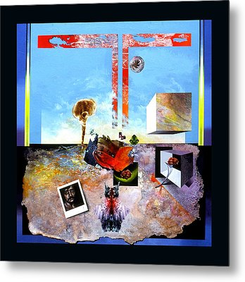 Metal Print featuring the painting Bogomil Objects by Otto Rapp