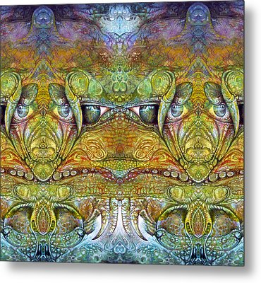 Metal Print featuring the digital art Bogomil Variation 12 by Otto Rapp