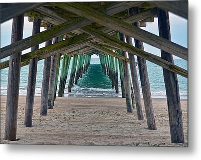 Bogue Banks Fishing Pier Metal Print