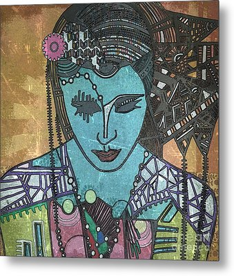Bohee Woman Metal Print by Amy Sorrell