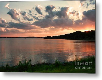 Metal Print featuring the photograph Bohemia River Sunset In Maryland by Polly Peacock