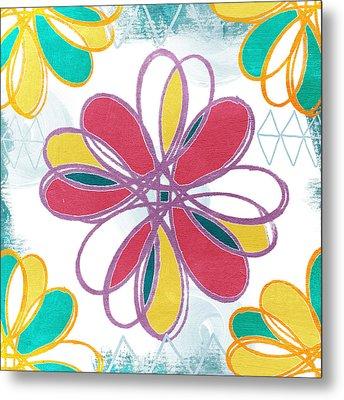 Boho Floral 2 Metal Print