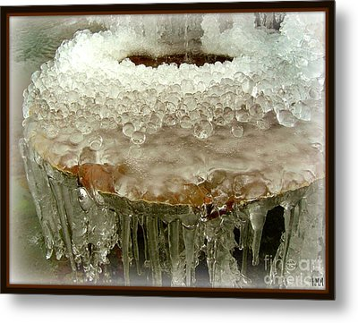 Boiling Ice Metal Print by Heidi Manly