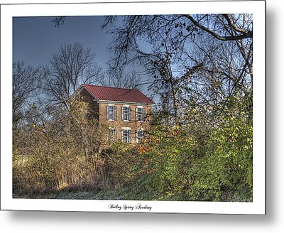 Boiling Spring Academy Metal Print by Gina Munger