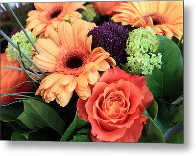 Bold Bouquet Metal Print by Gerry Bates
