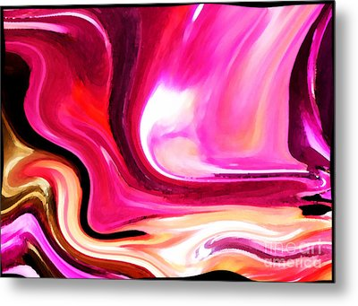 Bold Pink Abstract Metal Print by Carol Groenen