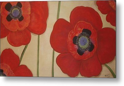 Bold Poppies Metal Print by Cindy Micklos