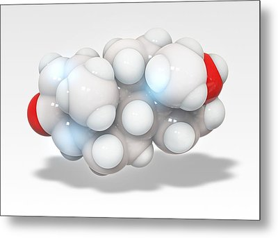 Boldenone Anabolic Steroid Molecule Metal Print by Ramon Andrade 3dciencia