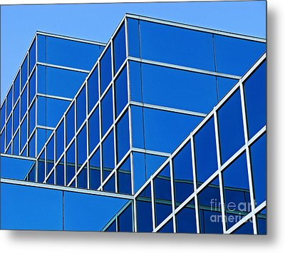 Metal Print featuring the photograph Boldly Blue by Ann Horn