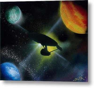Boldly Go Metal Print by Thomas DOrsi
