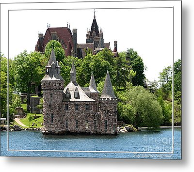 Boldt Castle And Powerhouse Metal Print by Rose Santuci-Sofranko