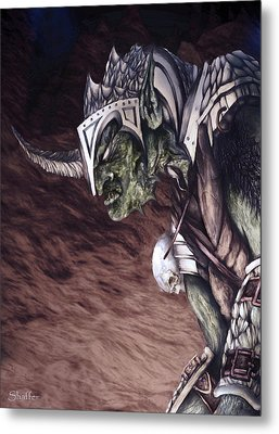 Metal Print featuring the mixed media Bolg The Goblin King 2 by Curtiss Shaffer