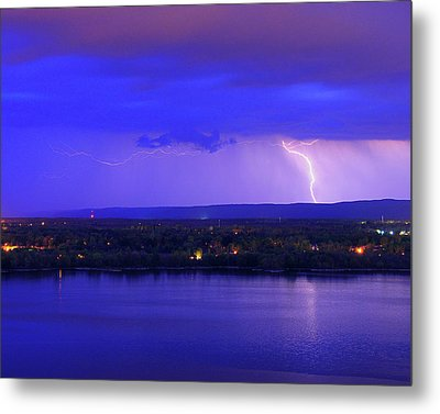 Bolt Over Gatineau Hills  Metal Print