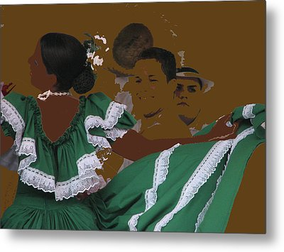 Metal Print featuring the photograph Bomba Dancers by Aurora Levins Morales