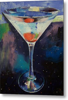 Bombay Sapphire Martini Metal Print by Michael Creese
