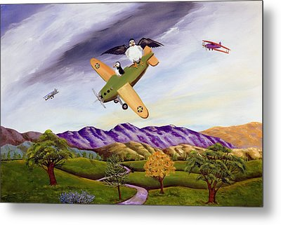 Metal Print featuring the painting Bombs Away by Susan Culver