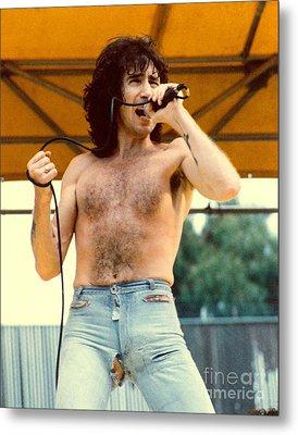 Bon Scott Of Ac Dc At Day On The Green - July 1979 Metal Print