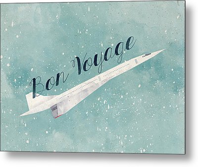 Bon Voyage Metal Print by Randoms Print