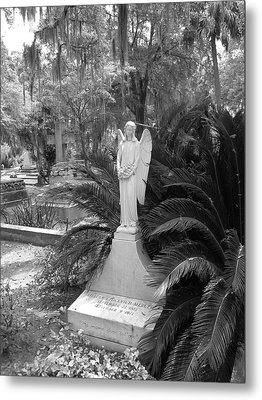 Metal Print featuring the photograph Bonaventure Angel by Victoria Lakes