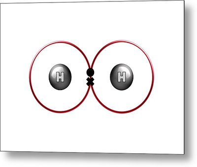 Bond Formation In Hydrogen Molecule Metal Print by Animate4.com/science Photo Libary