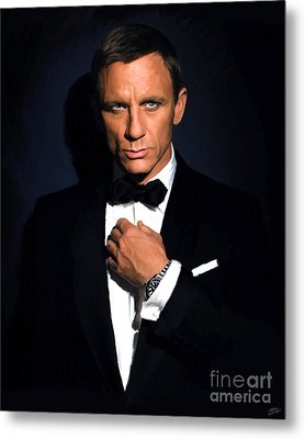Bond - Portrait Metal Print by Paul Tagliamonte