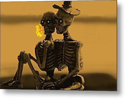 Bones In Love  Metal Print