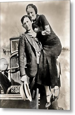 Bonnie And Clyde - Texas Metal Print by Daniel Hagerman