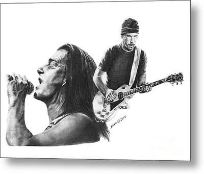 Bono And The Edge Metal Print