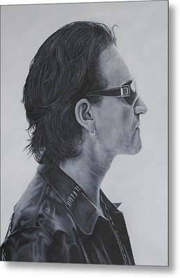 Bono Metal Print by David Dunne