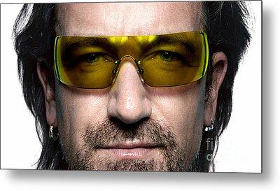 Bono  Metal Print by Marvin Blaine