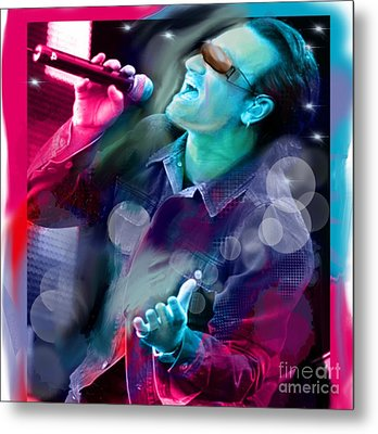 Bono Of U2 Metal Print by Diana Riukas
