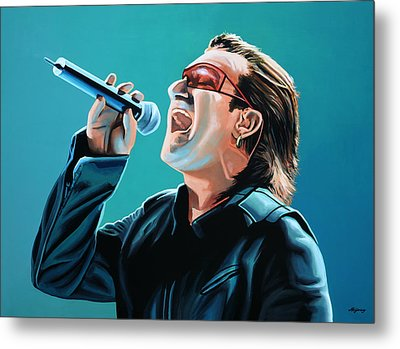 Bono Of U2 Painting Metal Print by Paul Meijering