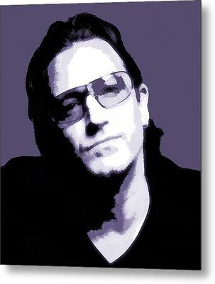 Bono Portrait Metal Print by Dan Sproul