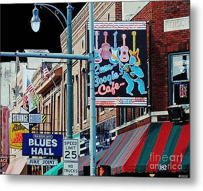 Boogie On Beale St Memphis Tn Metal Print
