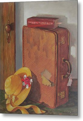 Metal Print featuring the painting Book Case by Tony Caviston