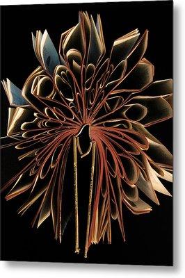 Book Flower Metal Print by Nicklas Gustafsson
