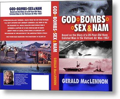 Book Full Cover Graphic Design Metal Print