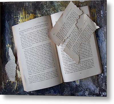 Book Metal Print by Mary Adam