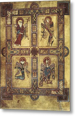 Book Of Kells. 8th-9th C. Fol.27v Metal Print by Everett