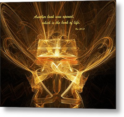 Book Of Life Metal Print by R Thomas Brass