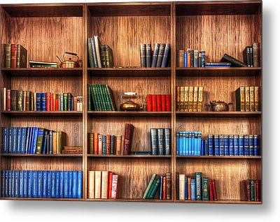 Book Shelf Metal Print by Svetlana Sewell