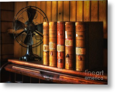 Books And Fan Metal Print by Jerry Fornarotto