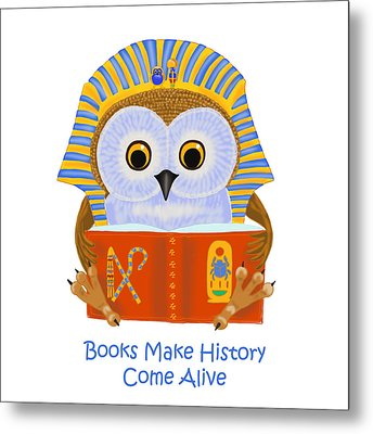 Books Make History Come Alive Metal Print