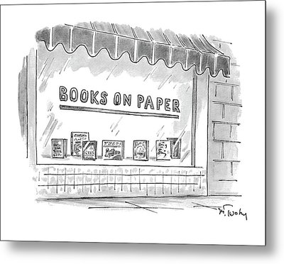 'books On Paper' Metal Print by Mike Twohy