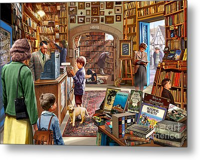 Bookshop Metal Print