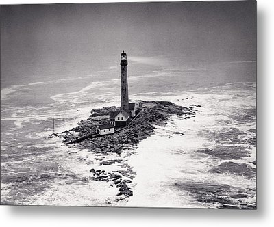 Boon Island Light Tower Circa 1950 Metal Print by Aged Pixel
